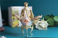 Музыкальная шкатулка Merry-Go-Round Music Box Белый Открыть Три Двери Яичной Скорлупы Творческий подарок Поворот Жемчужина Музыкальная шкатулка Рожд...