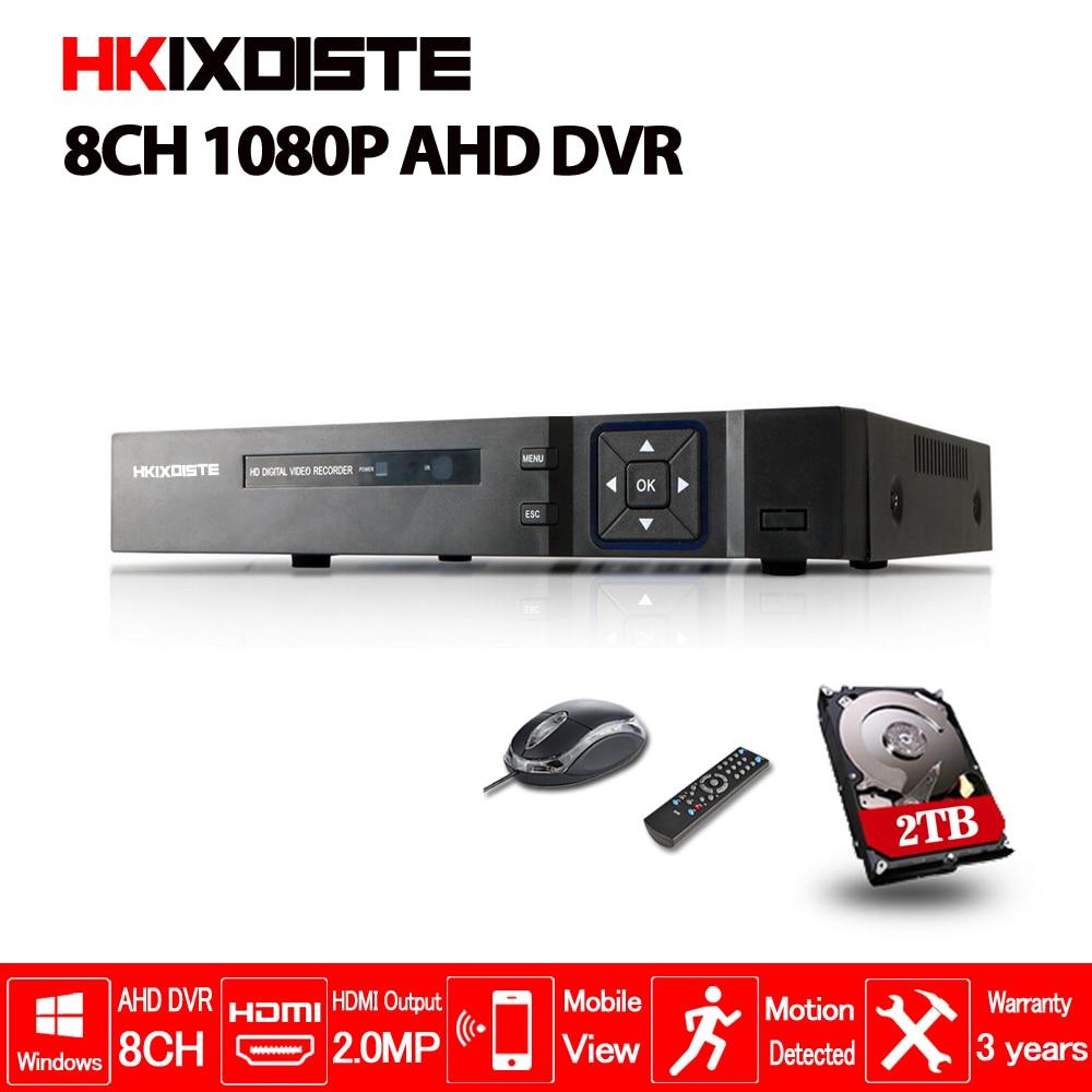 HKIXDISTE дома 8CH 1080 P TVI. CVI AHD-H 5 In1 Hybrid DVR 2.0MP NVR видеорегистратор AHD DVR для/AHD/аналоговые камеры IP камеры