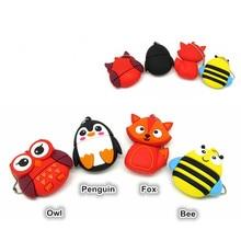 Cute penguin owl fox Bee usb flash drive pendrive 4GB 8GB 16GB 32GB U disk animal memory stick pen drive gift стоимость