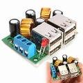 Porta 4-USB Board Módulo Step-down Converter Fonte de Alimentação DC 12 V 24 V 40 V para 5 V 5A