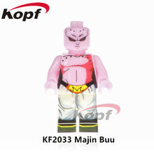 Single Sale Dragon Ball Z Figures Super Heroes Majin Buu Vegeta SSJ3 Goku Ultra Instic Building Blocks Children Gift Toys KF2033(China)