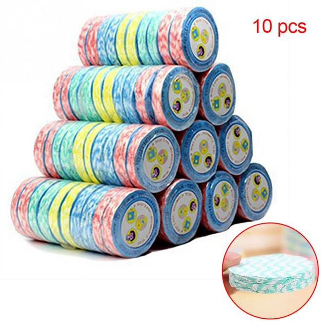 10pcs Practical Outdoor Traveling Portable Non Disposable Compressed Towel Non-woven Eco Towel