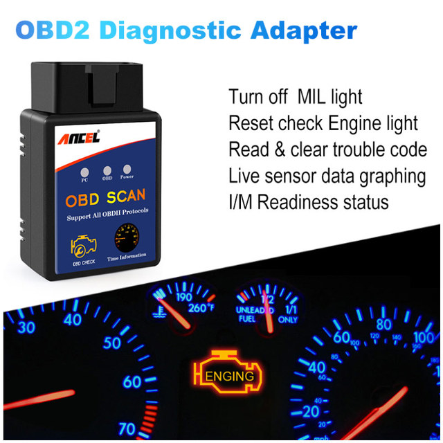 Mini Bluetooth ELM327 V1.5 OBD2 Automotive Scanner Car OBD 2 Diagnostic Tool ODB2 ELM 327 Fault Code Reader OBDII ELM327 Adapter