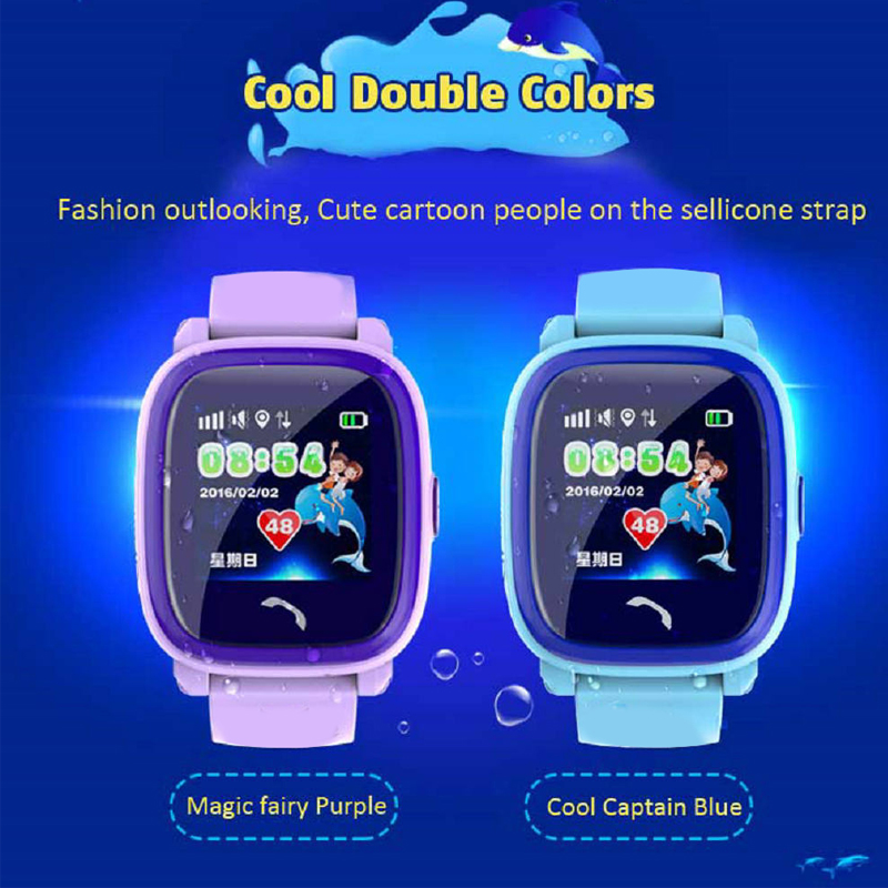Waterproof DF25 Kids Smart Watch PK Q100 GPS Smart Baby Smartwatch SOS Call Location Device Tracker Kids Safe Anti-Lost Monitor