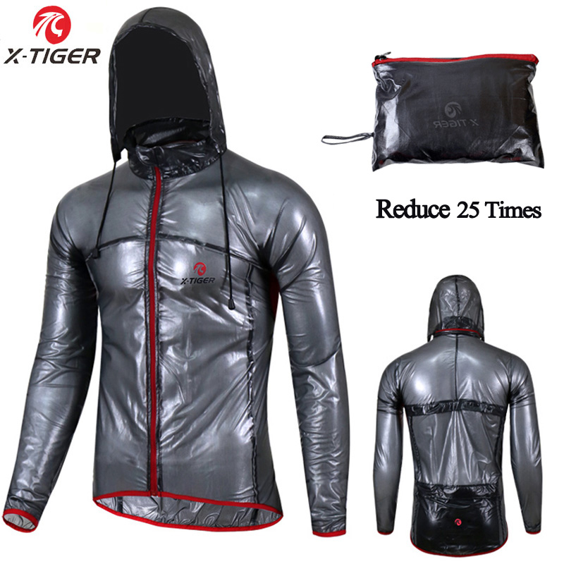X TIGERT Practical Cycling Raincoat Cycling Jersey Bicycle Jersey Windcoat MTB Bike Clothing Jacket Rainproof Waterproof