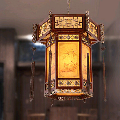 Tradition Chinese style carved wood art Pendant Lights Antique rural E27 LED lamp for bar&balcony&corridor&porch&stairs MYR002 tradition chinese style carved wood art pendant lights retro countryside house lamp for bar