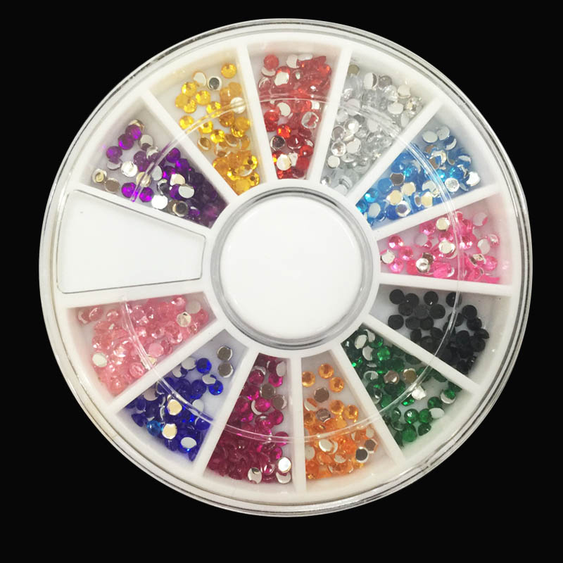 About 1000pcs box 3d nail rhinestones art rhine stone for Acrylic nail decoration supplies
