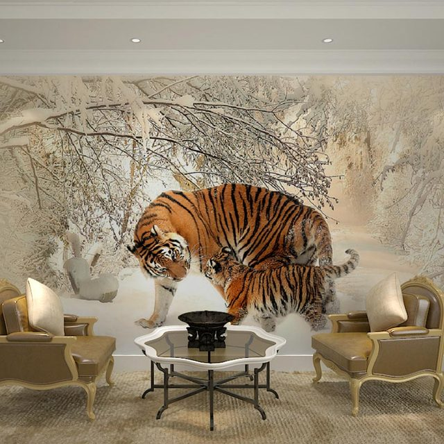 Buy home decor wall murals papel de for Winter wall murals