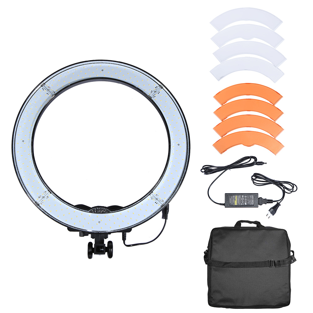 Rl 18 led ring light selfie light 240pcs beads studio led lamp rl 18 led ring light selfie light 240pcs beads studio led lamp panel cri 90 5500k video light lamp with color diffusion filter in photographic lighting parisarafo Choice Image