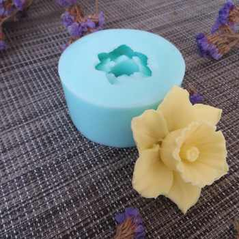 PRZY HC0089 3D Molds Flowers Silicone Soap Mold Flower Candle Aroma Mould Soap Making Moulds Resin Clay Molds Silica Gel