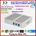 2016 Recentes NC690 Business Office Mini Pc Fanless Kingdel Computador com gen Intel N3150 14nm Quad Core Processor 8 GB de RAM SSD