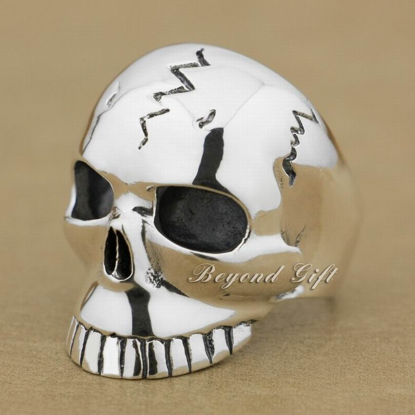 Huge Heavy 925 Sterling Silver Skull Ring Mens Biker Rocker Punk Ring 9M009 US Size 8~15