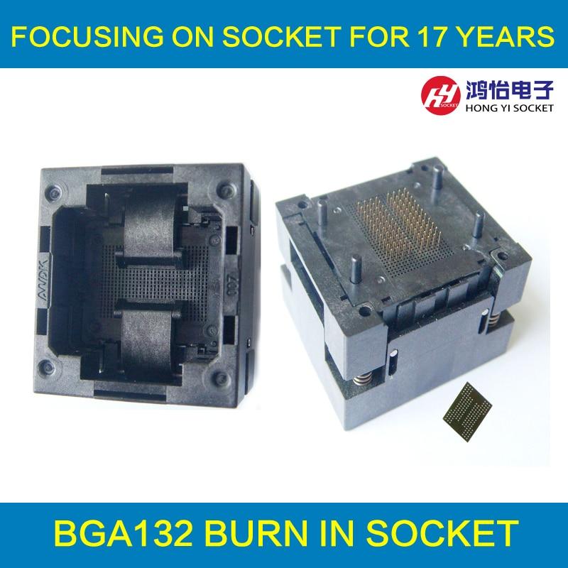 BGA132 BGA152 Burn in Socket BGA Adapter IC Test Socket For BGA88 BGA136 Flash Testing Programmer Adapter Open Frame Structure specific flash lqfp100 78k0 lg2 100gf test adapter