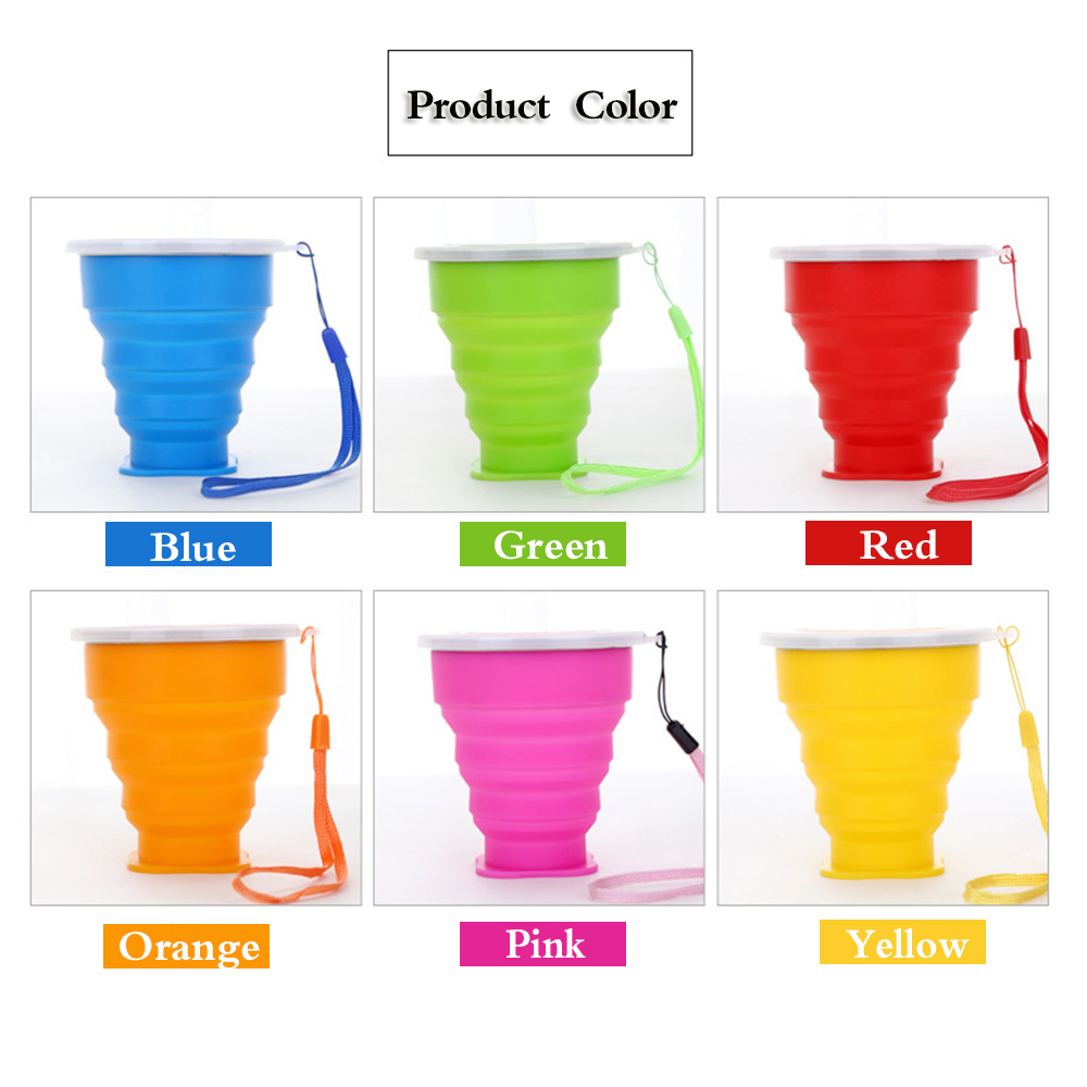 Mini Portable Travel Outdoor Cup Retractable Folding Telescopic Collapsible 200mL in Teacups from Home Garden