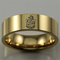 Free Shipping USA UK Canada Russia Brazil Hot Sales 8MM Golden Pipe Comfort Fit US Navy