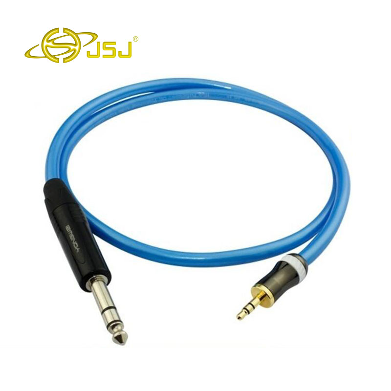 6N OFC RCA sophomore Lotus core mixer turn 6.35mm audio cable