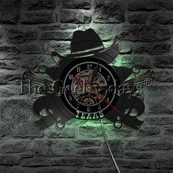1 sztuka Texas Cowboy Night Lights Texas bandyta człowiek jaskinia znak bar zmiana koloru ściana światło współczesna kinkiet