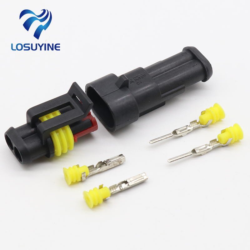5kits Flame retardancy 2P auto connector waterproof automotive Wire Connector Plug 2 Pins Electrical Car Motorcycle HID5kits Flame retardancy 2P auto connector waterproof automotive Wire Connector Plug 2 Pins Electrical Car Motorcycle HID