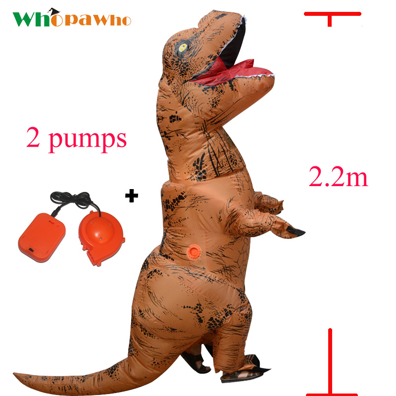 Adult T REX Costumes Inflatable Dinosaur Costume Anime dinosaur Blowup disfraces adultos Halloween costume for Woman