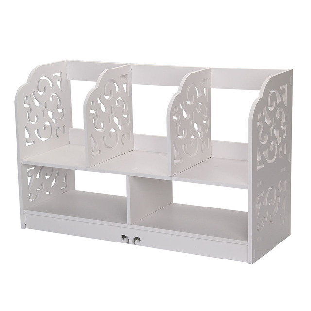 Home Office White Wooden Desk Tidy Stationery Pen Organiser Holder Shabby  Chic Pattern:Filigree (