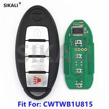 Sikali carro remoto chave inteligente apto para nissan twb1u815 cwtwb1u815 ensolarado teana sylphy sentra versa 315 mhz pcf7952 chip