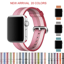 DIDI Nylon Strap For Apple Watch Band 44 mm 42mm Bands Series 4 3 2 Strap Blue Black for Apple Watch 42 mm Band 38mm Accessories