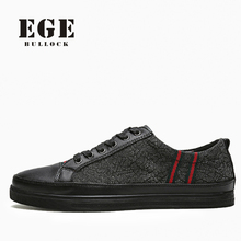 Men Casual Shoes New Fashion Style Lace-up Top Quality Fashion Canvas Male Flats Spring Soft Stylish EGE Brand Shoes for Men