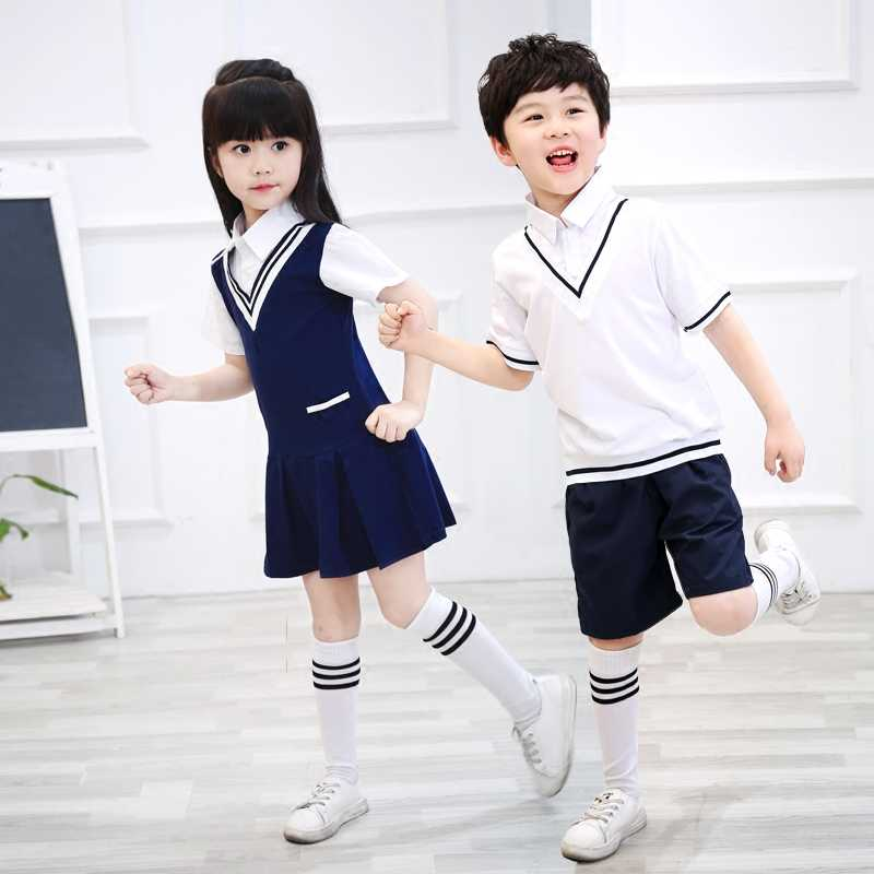 Children's school uniforms, new children's chorus, primary school, British wind school uniform, performance clothing, uniforms