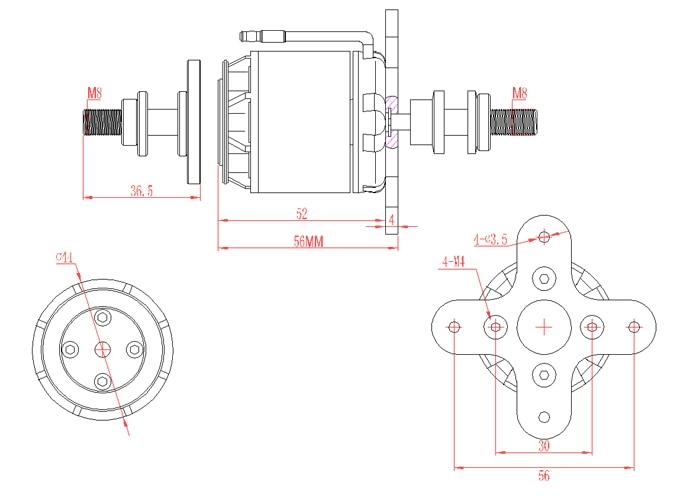 EMAX GT3526/04 rc motor sin escobillas 710kv 870kv avión outrunnerelectric vehículo GT 5mm de la serie del eje 4 5 s para accesorio de avión-in Partes y accesorios from Juguetes y pasatiempos    3