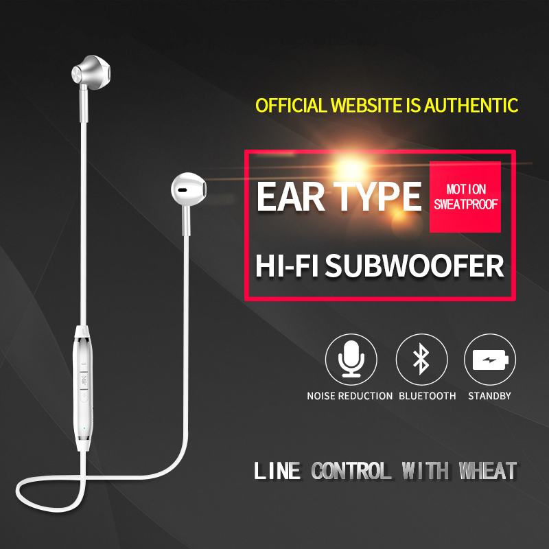 S818 Bass Bluetooth Earphone Wireless Headphones Sport Earbuds audifono Bluetooth Headset For Phone fone de ouvido With Mic langsdom l5 wireless earphones with mic sport bluetooth headphones bluetooth earphone for xiaomi phone fone de ouvido headset