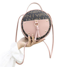 Vintage Scrub Leather Round Designer Crossbody Bag For Women 2019 PU Leather Shoulder Bags Ladies Small Handbags Mini Tote Bag(China)