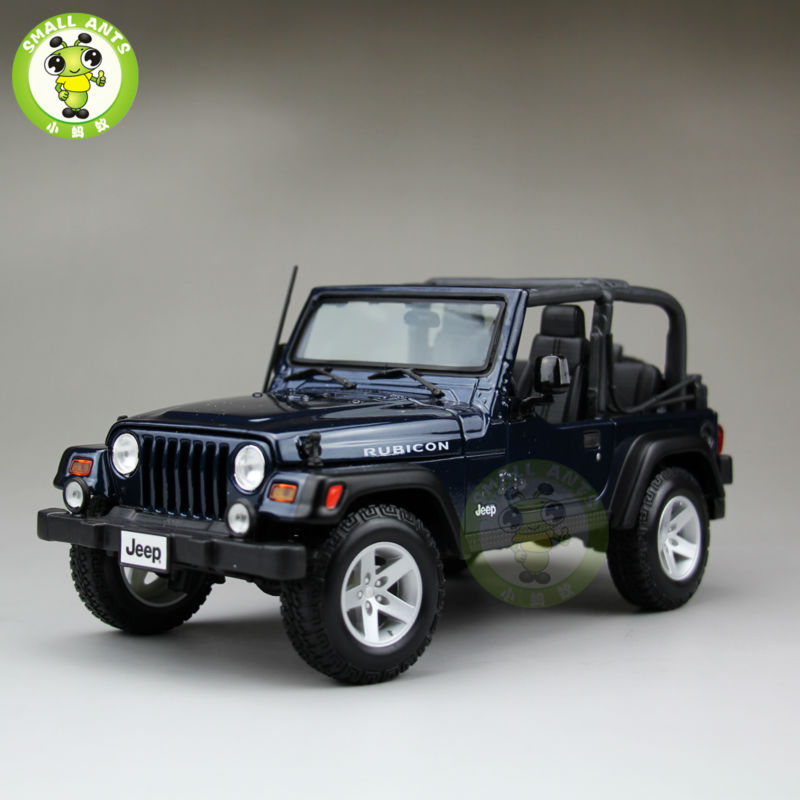 1 18 scale jeep wrangler rubicon diecast metal car suv model maisto 31663 blue in diecasts toy. Black Bedroom Furniture Sets. Home Design Ideas
