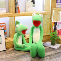 100/120cm Kermit Frog Plush Toy Long Leg Frog Pillow Stuffed Toys Children Baby Christmas Gifts