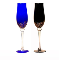 Creative stained glass wine cup home decor Colorful glass champagne glasses