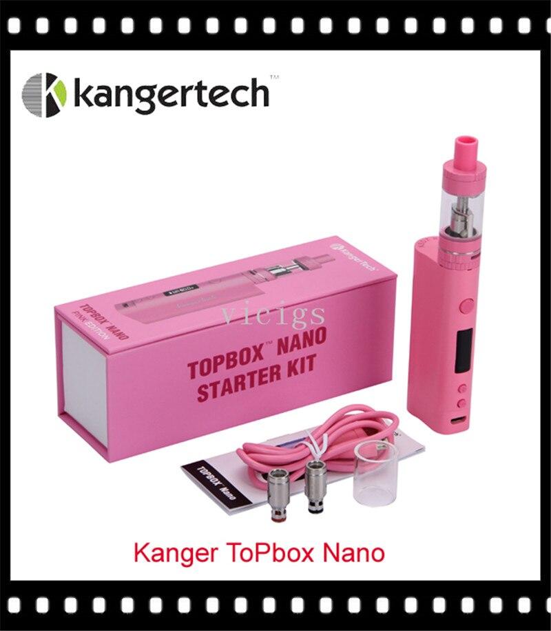 100% Original Kanger Topbox Nano 60W Temperature Control TC/VW Starter Kit original kangertech topbox mini tc starter kit with toptank mini atomizer