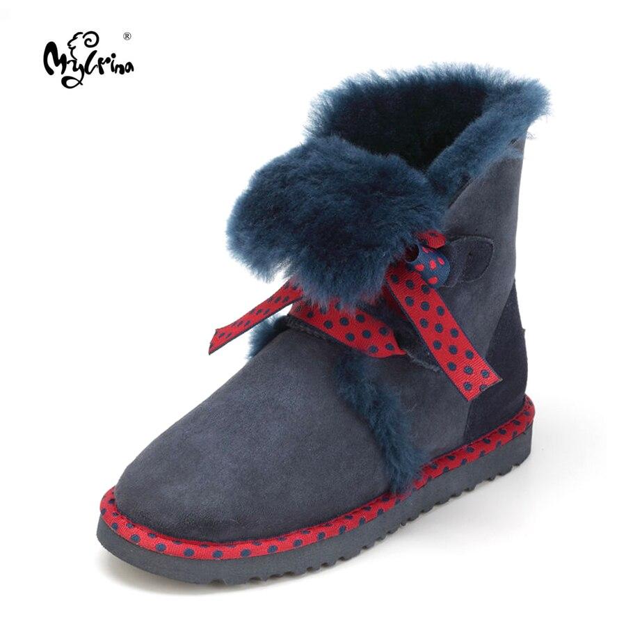Top Quality 2017 New Genuine Sheepskin Leather Snow Boots Real Wool Botas Mujer Winter Natural Fur Warm Shoes For Women фильтр для воды новая вода expert osmos stream mod600
