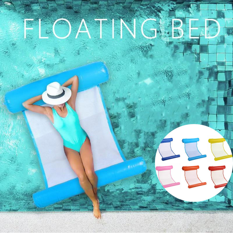 Inflatable Water Hammock Floating Bed Lounge Chair Drifter Swimming Pool Beach Float Cushion Bed Lounge Chair Mattress Hammock