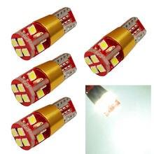 4 pçs t10 w5w 3030 12 smd lâmpadas de automóvel 168 194 bulbo w/constante currentcanbus placa estacionamento luz estilo do carro DC12-24V branco