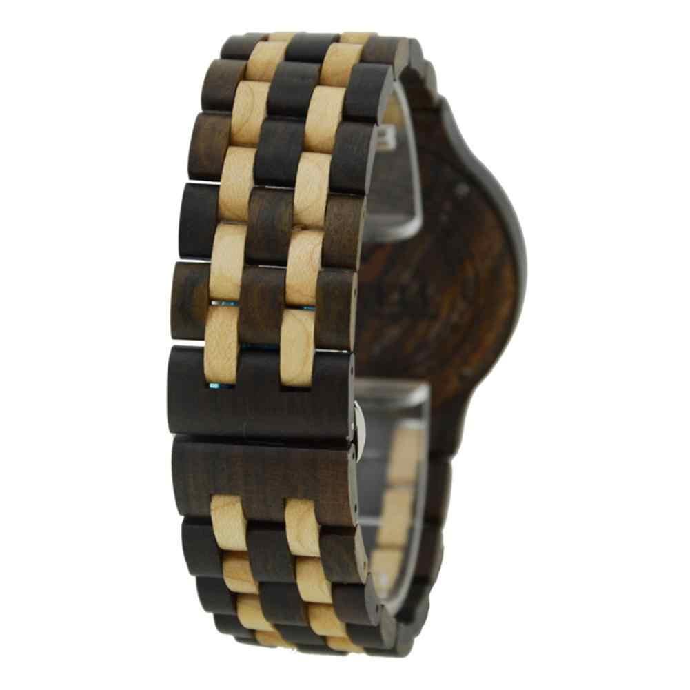 BEWELL reloj de madera elegante de cuarzo de moda reloj de pulsera súper fino para hombres y mujeres Festival regalo de cumpleaños