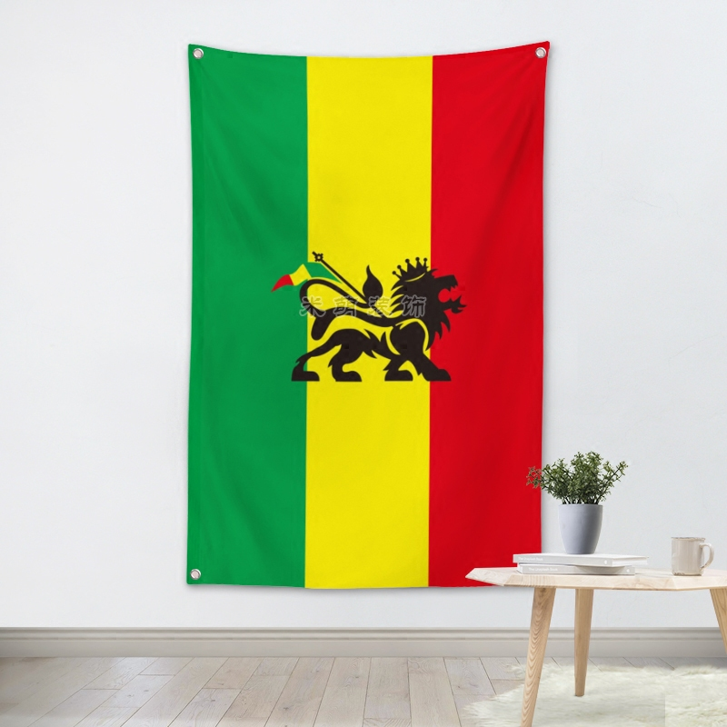 Jamaica Reggae Music Band Banners Wall Flags Tapestry Cloth Art Bar Cafe Hotel Theme Background Decoration