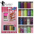 Beautome 9PC/Set 6PC Glitter Power Dust Tip Rhinestone Sequins + Dotting Tools + Nail Files + Nail Treatment For Manicure