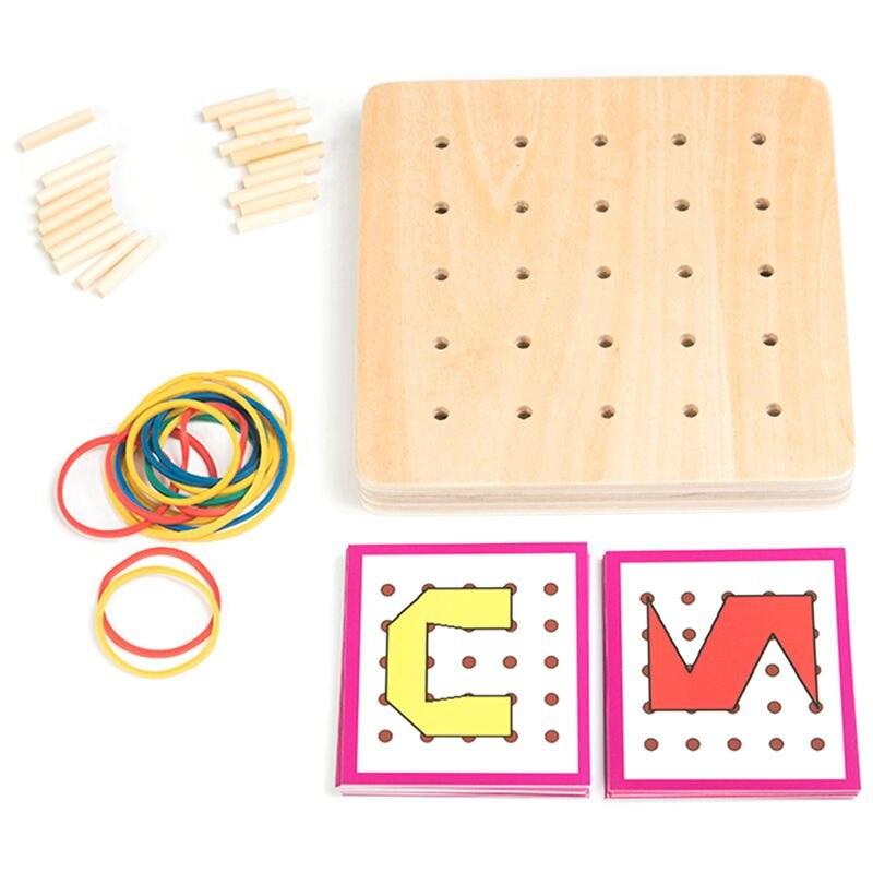 Baby Toys Creative Geometric Space Graphic Tie Nail Board Children Education Preschool Play Teaching Aids