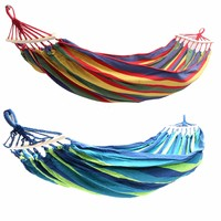 Portable Double 2 Person Hammock Green Fabric 450lb Air Hanging Swinging Outdoor Camping Hammock 280*150cm|Hammocks| |  -