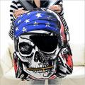 Pirate skull print men and women shoulder bags Teenage Girls School Bags Cartoon Cat Backpack Female Travel Bag mochila rucksack