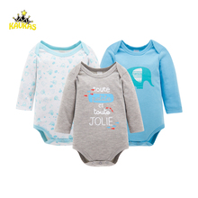 KAVKAS KAVLAS 3Pcs/Lot Body Suits Rompers Spring Cotton