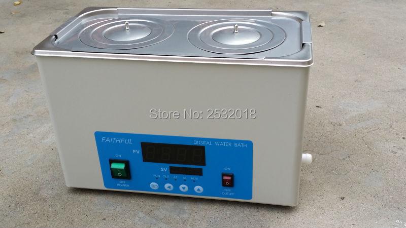 Les bains d'eau thermostatiques de laboratoire 2 trous peuvent étirer le revêtement, livraison gratuite!