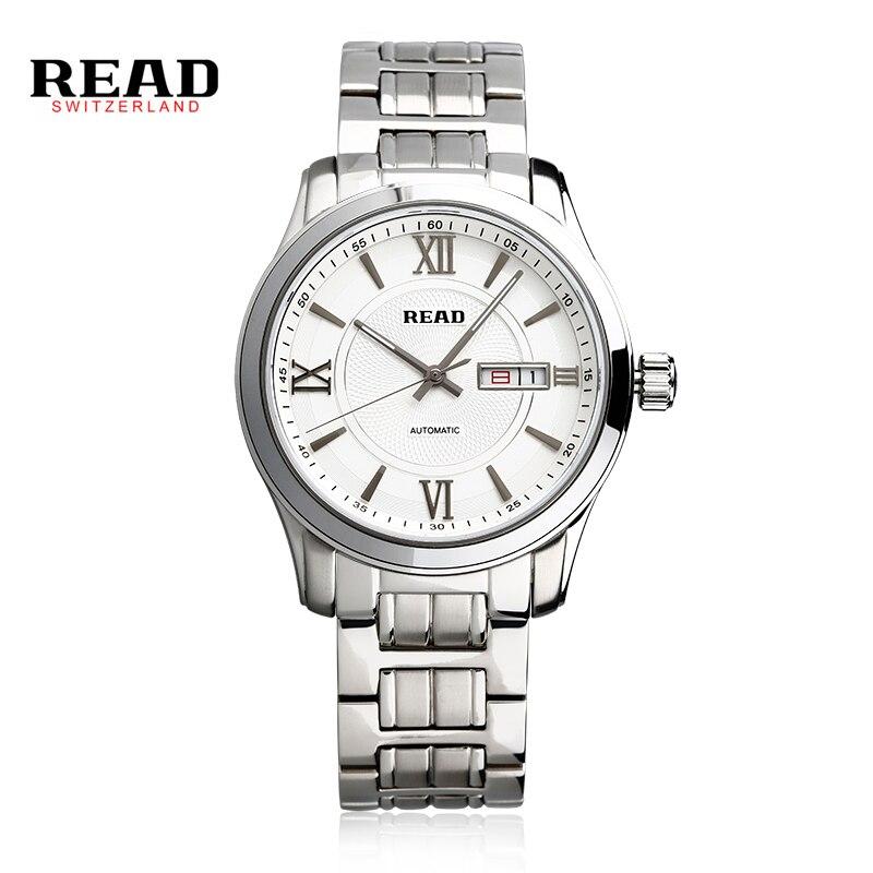 READ Design Black Gold Watch Montre Homme Mens Watches Top Brand Luxury Relogio Male Skeleton Mechanical Watch PR154