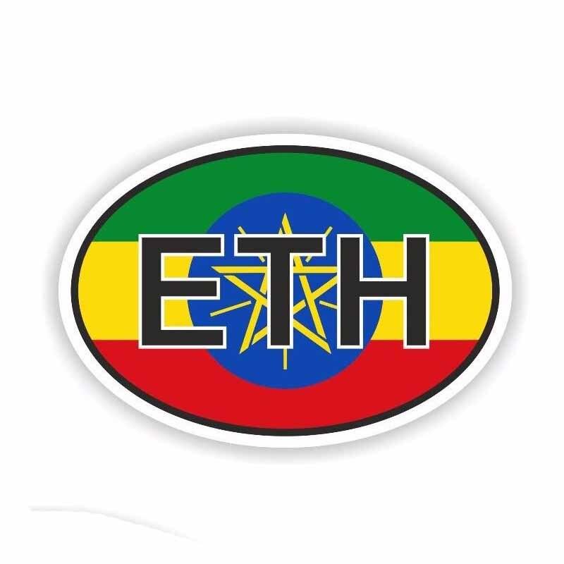 100% Wahr 12 Cm * 8,1 Cm Äthiopien Eth Land Code Auto Aufkleber Reflektierende Aufkleber Pvc Zubehör Motorrad 6-0261 100% Original