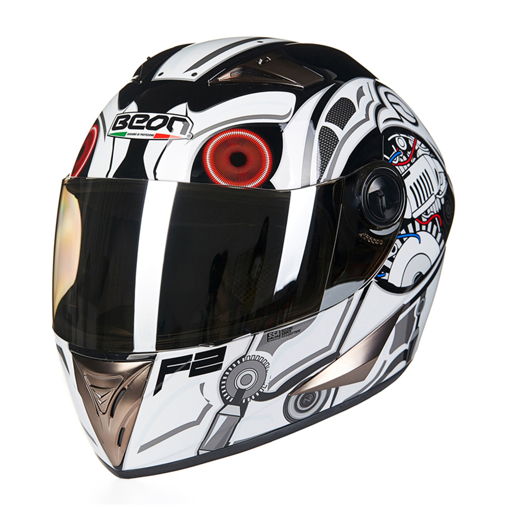 New Motorcycle Helmet Racing Full Face Helmet B50 Moto Casque Casco motocicleta Capacete Kask helmets Chrome Visor M L XL nenki motorcycle helmets motocross racing helmet motorbike full face helmet capacete de moto for men and women 13 color