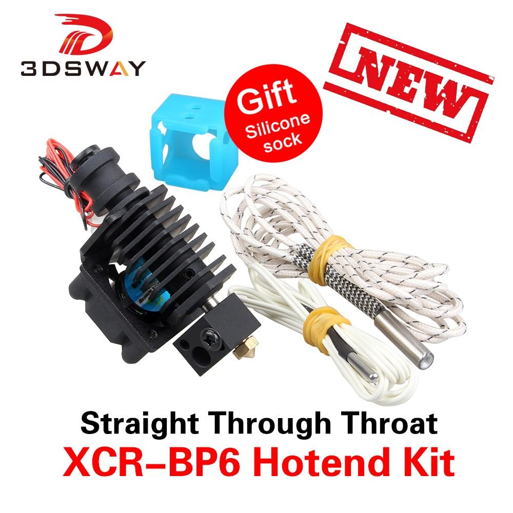3DSWAY 3D Printer Parts XCR-BP6 Improved 3D V6 Hexagon Universal Hotend Kit 0.4mm/1.75mm Straight Through Throat Extruder Kit